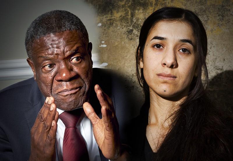 Денис Муквеге и Надя Мурад