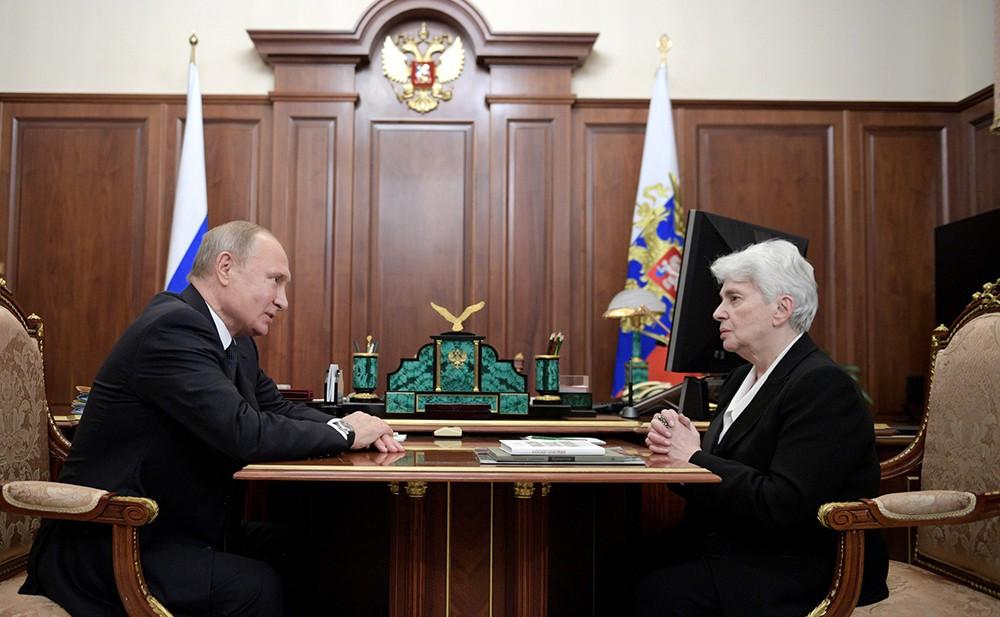 Владимир Путин и Наталья Солженицына