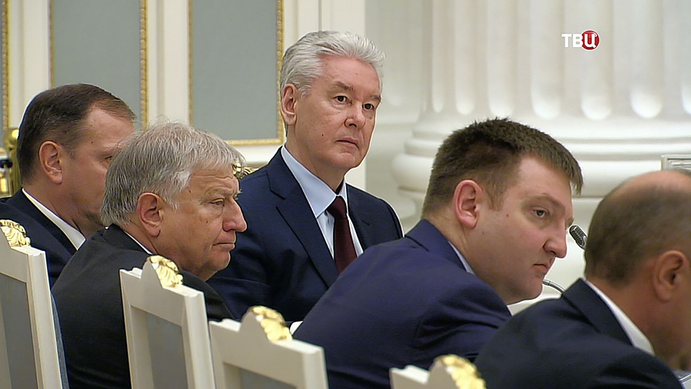 Сергей Собянин на заседании в Кремле