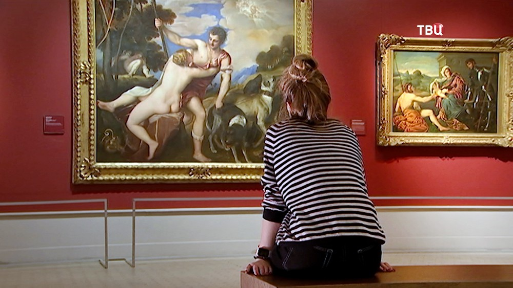 "Полотно Тициана ""Венера и Адонис"" в Пушкинском музее"