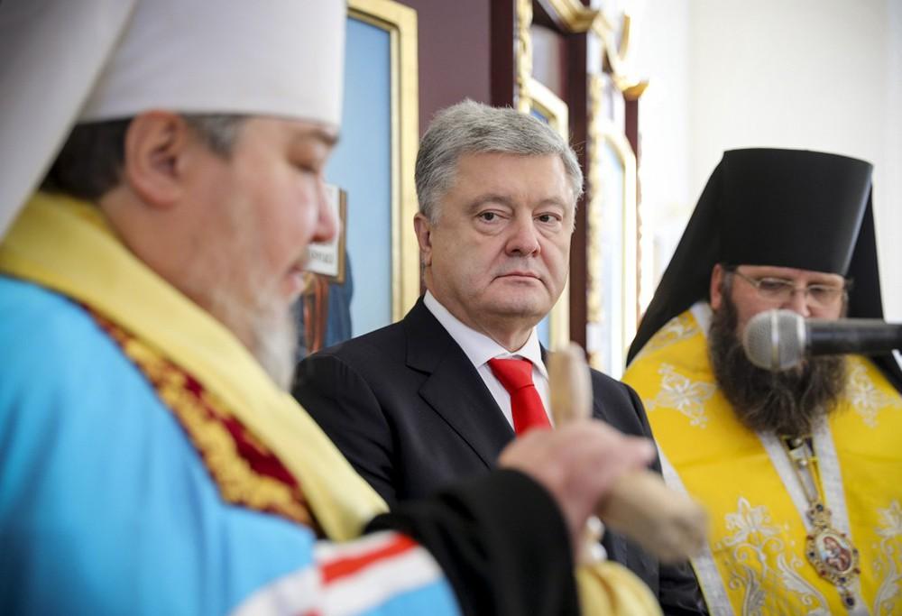 Пётр Порошенко и священники автокефальной церкви