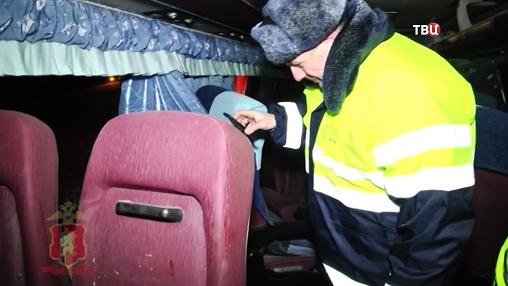 Последствия ДТП с участием рейсового автобуса