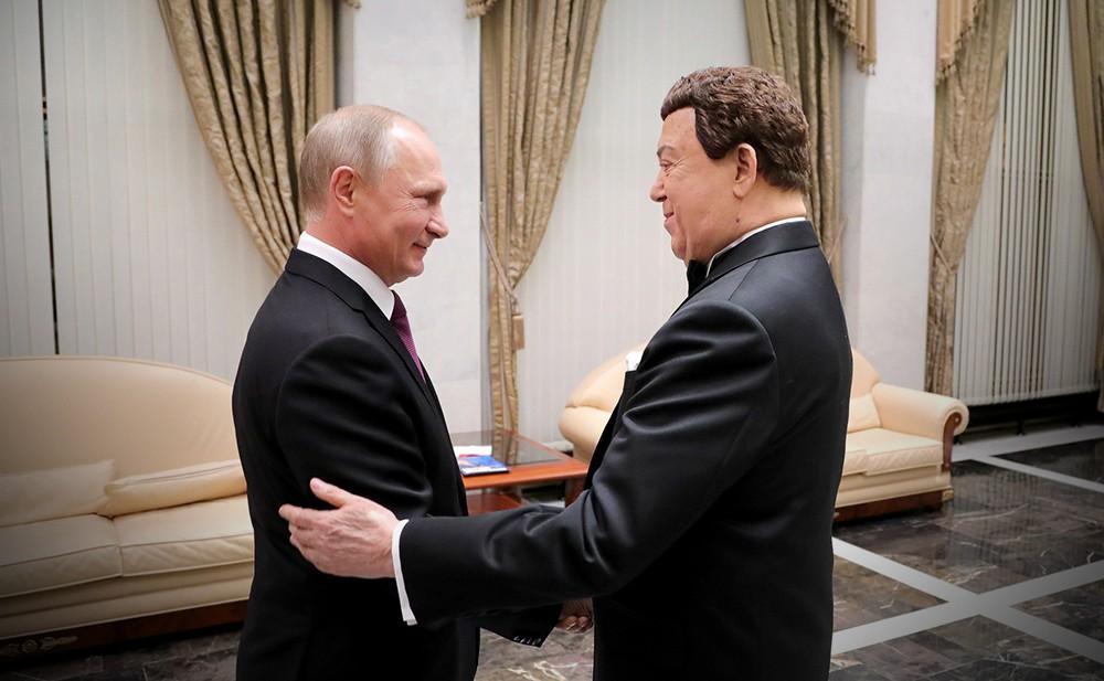 Владимир Путин и Иосиф Кобзон