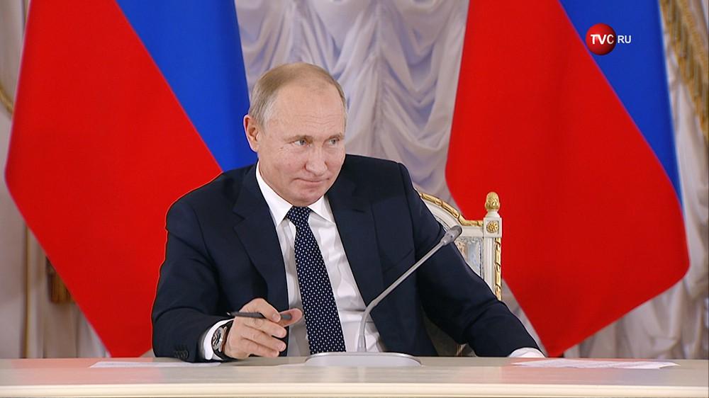 Владимир Путин на заседании Совета по культуре и искусству