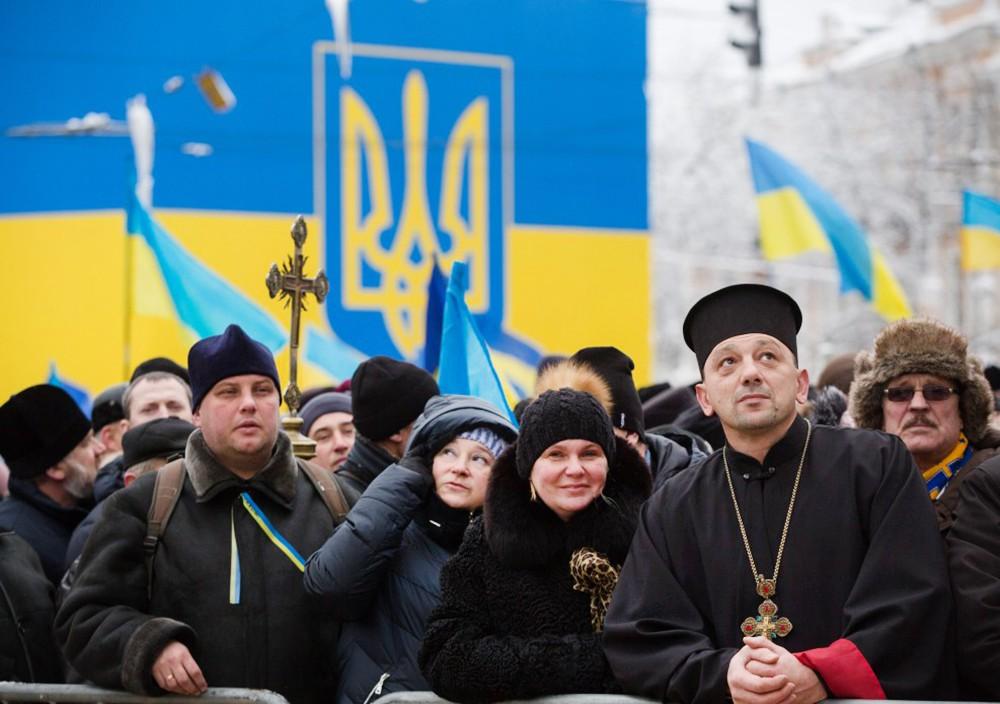 Участники Вселенского собора в Киеве