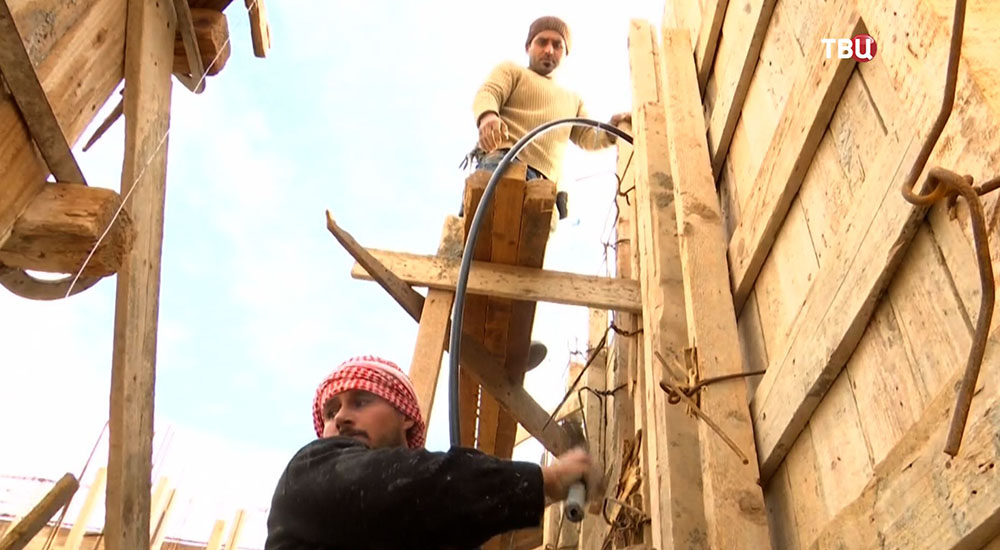 Строительство квартир в Алеппо