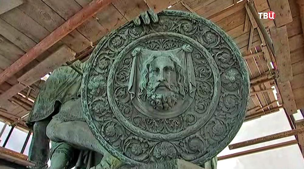 Реставрация памятника Минину и Пожарскому