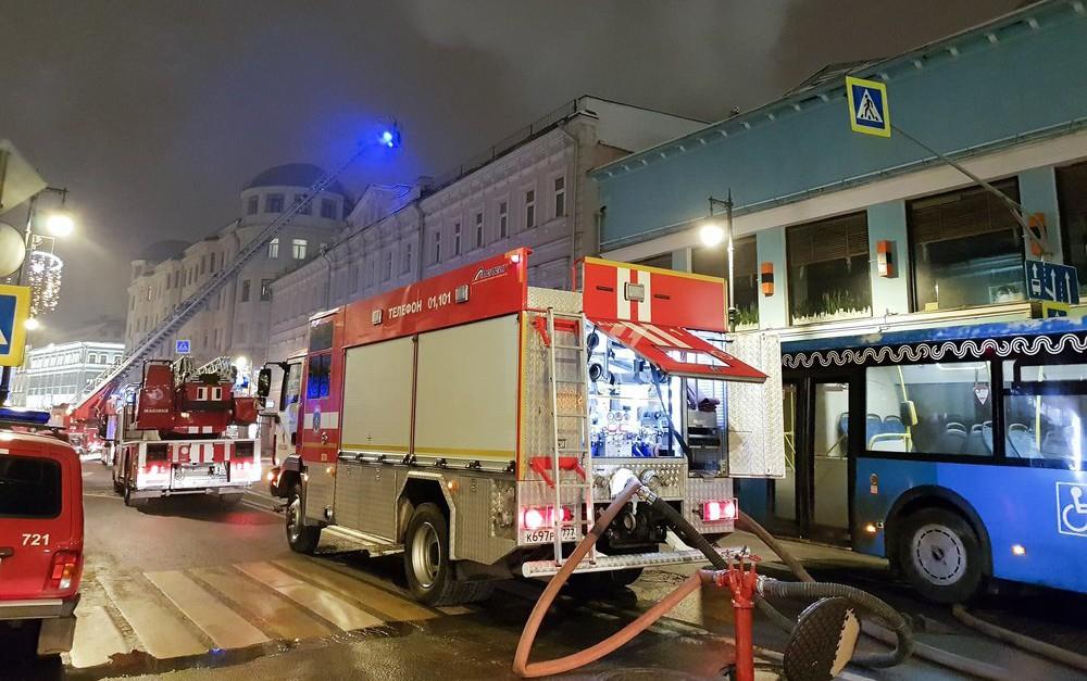 Ликвидация пожара в Москве
