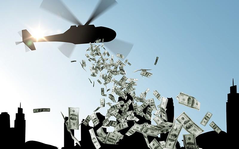 Деньги падают с вертолета