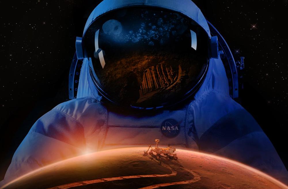 Астронавт NASA на Марсе