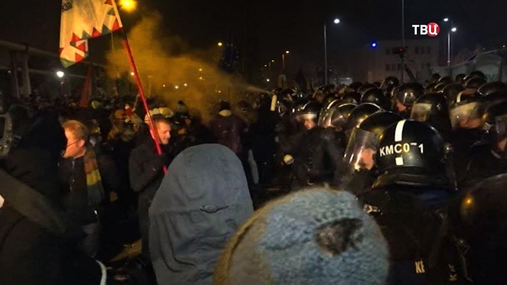 Полиция Венгрии препядствует уличным беспорядкам