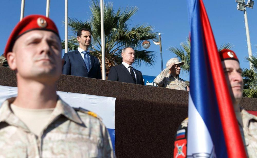 """Владимир Путин и Башар Асад на базе """"Хмеймим"""""""