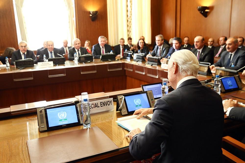 Встреча глав МИД стран-гарантов Астанинского процесса по Сирии и спецпредставителя ООН Сефана Де Мистуры