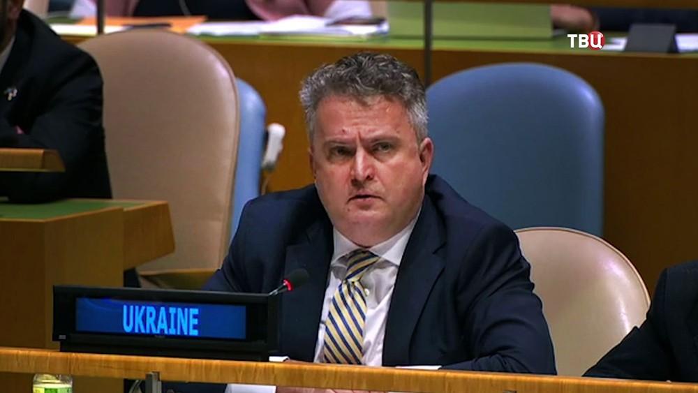Представитель Украины на заседании в ООН