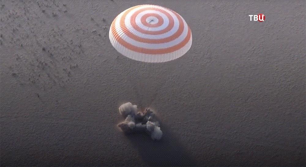 Спускаемый аппарат успешно приземлился