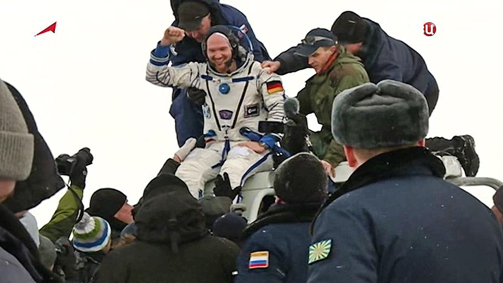 Немецкий астронавт Александр Герст