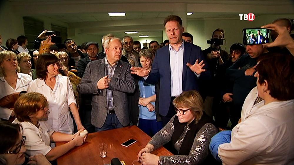 """Встреча руководства и работников хлебозавода """"Черкизово"""""""