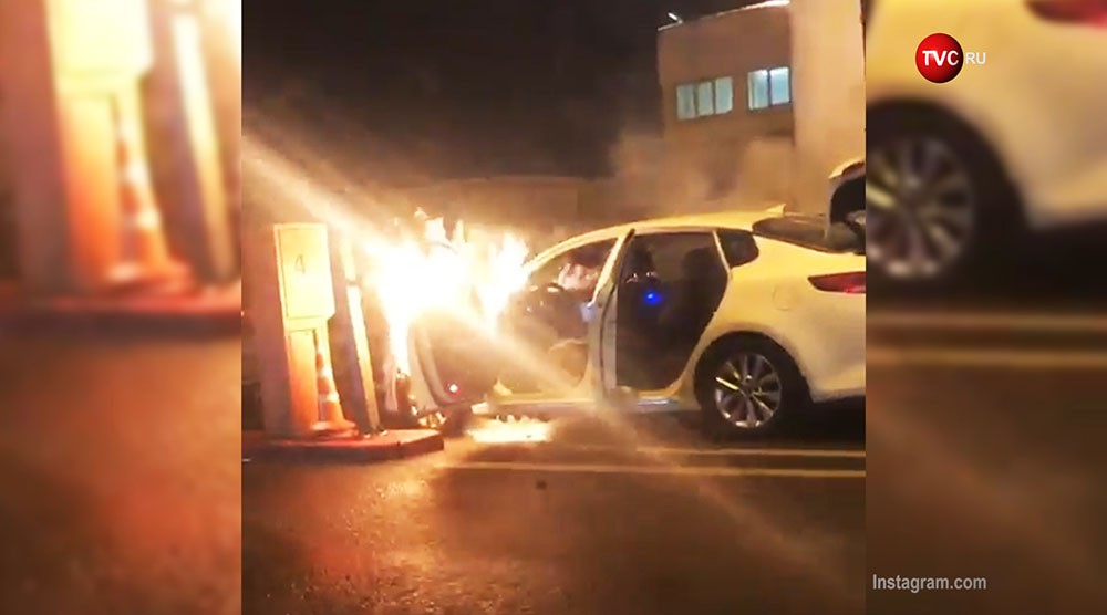 Возгорание легкового автомобиля