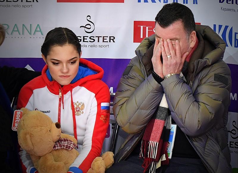 Тренер Брайан Орсер и Евгения Медведева