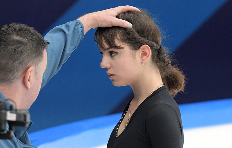Фигуристка Евгения Медведева и тренер Брайан Орсер