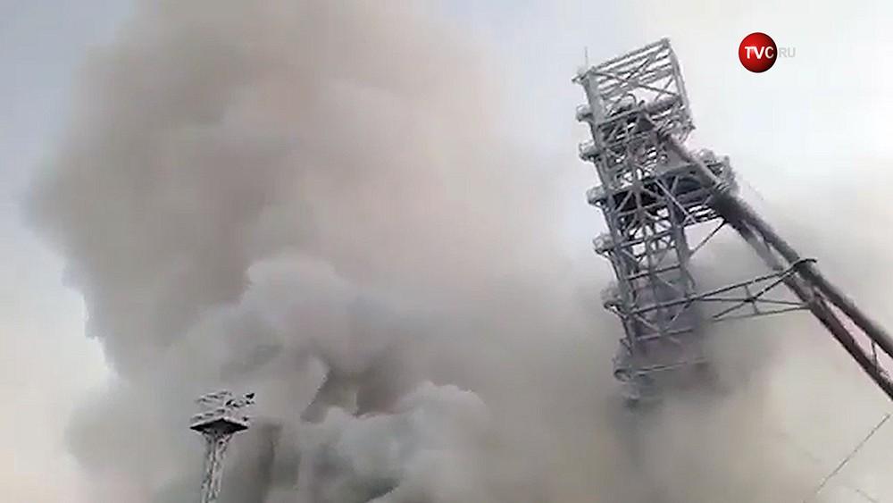 Пожар на шахте в Соликамске