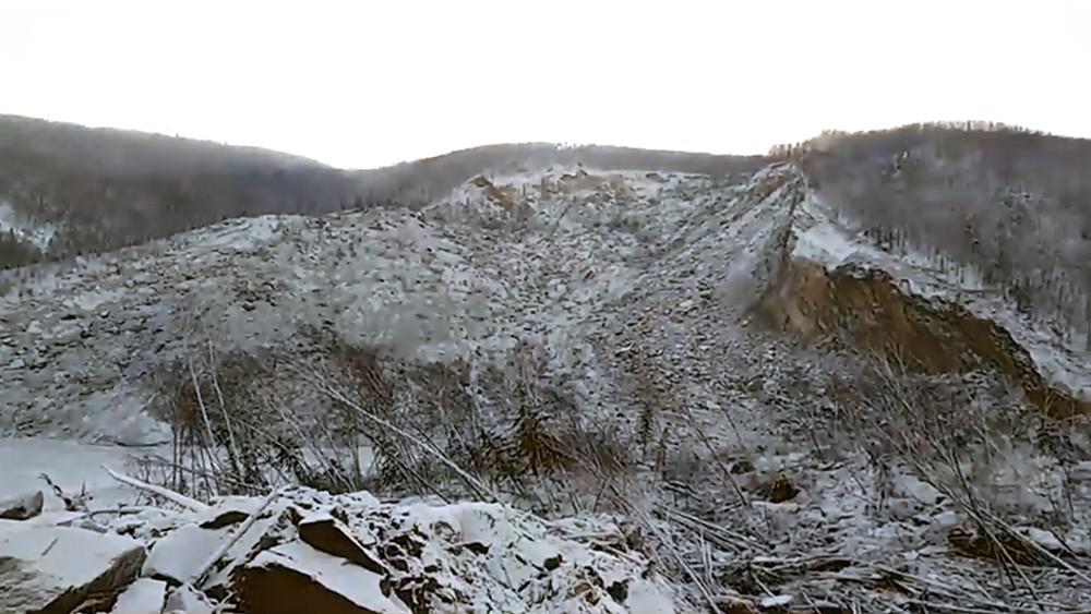 Место падения метеорита в Хабаровском крае