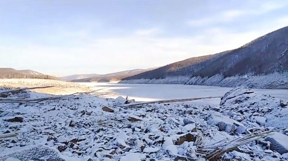 Оползень реке Бурея под Хабаровском