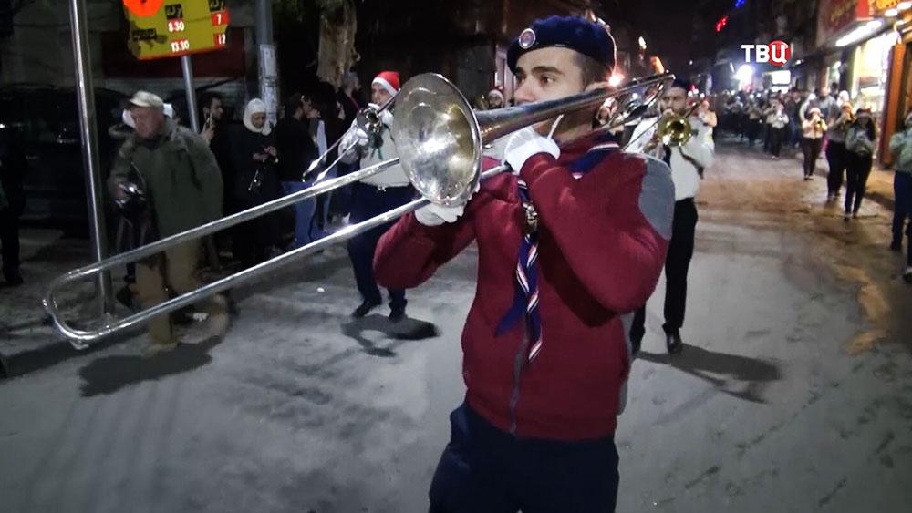 Рождественское представление в Сирии