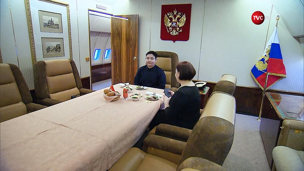 Арслан Каипкулов посетил спецборт президента России