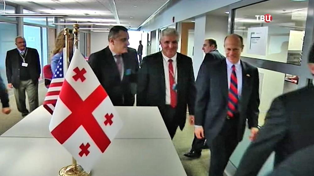 Открытие био-химической лаборатории США в Грузии