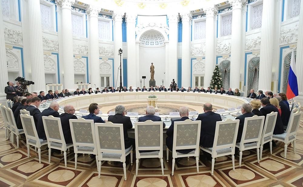 Встреча Владимира Путина с руководством Совета Федерации и Государственной Думы