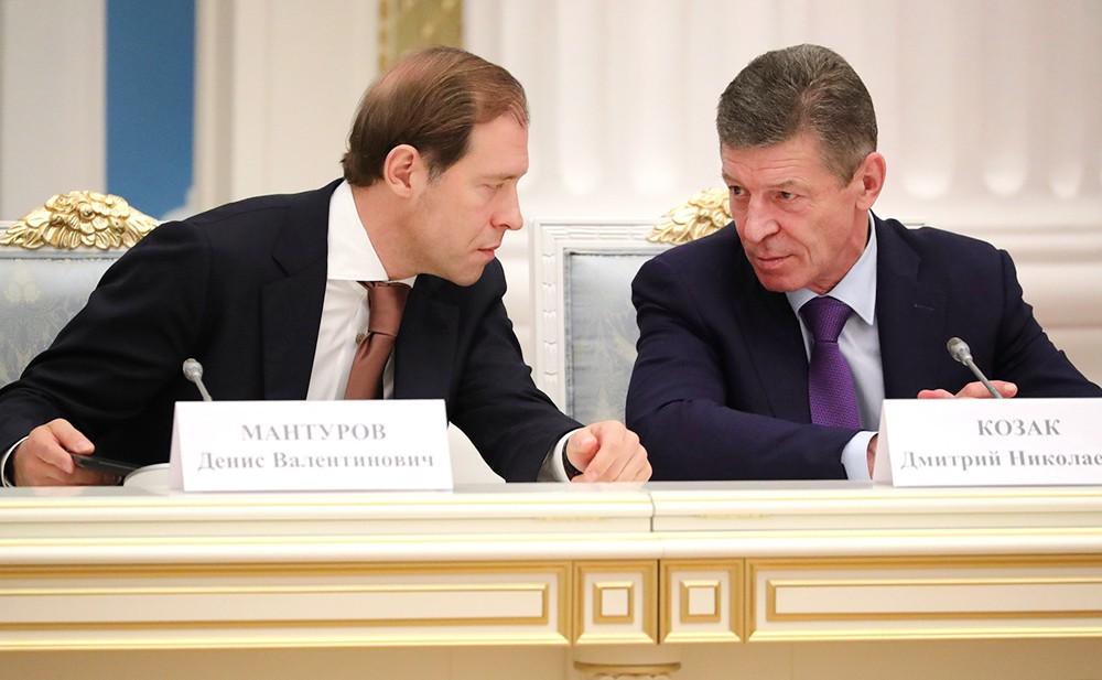 Денис Мантуров и Дмитрий Козак