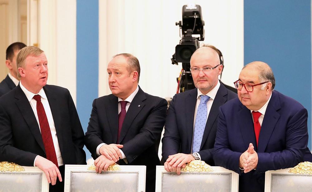 Встреча с представителями деловых кругов России в Кремле