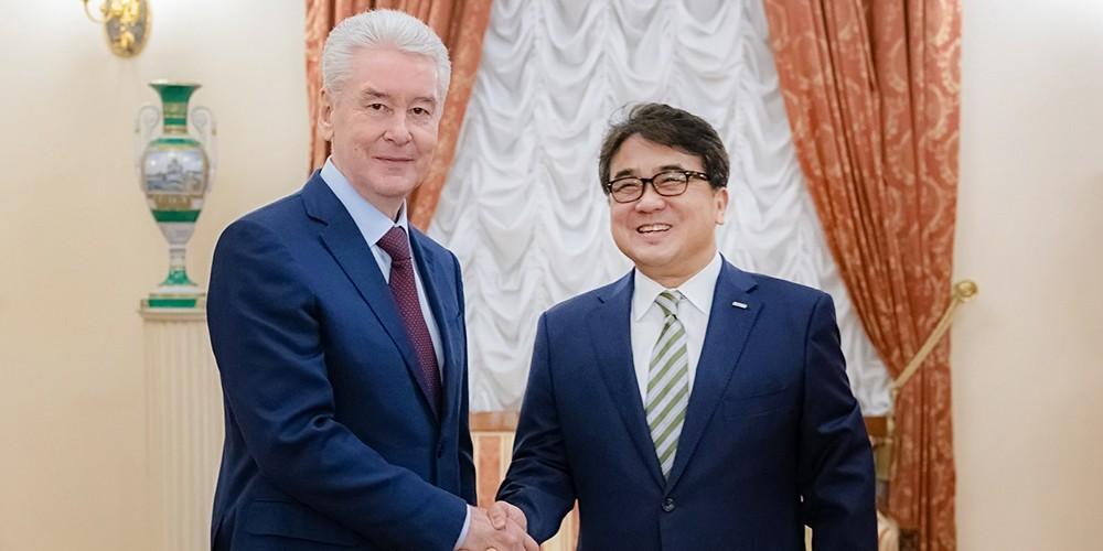 Сергей Собянин на подписании соглашения между Фондом международного медицинского кластера и госпиталем Бундан