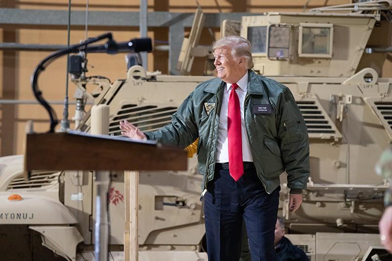 Дональд Трамп на военной базе в Ираке