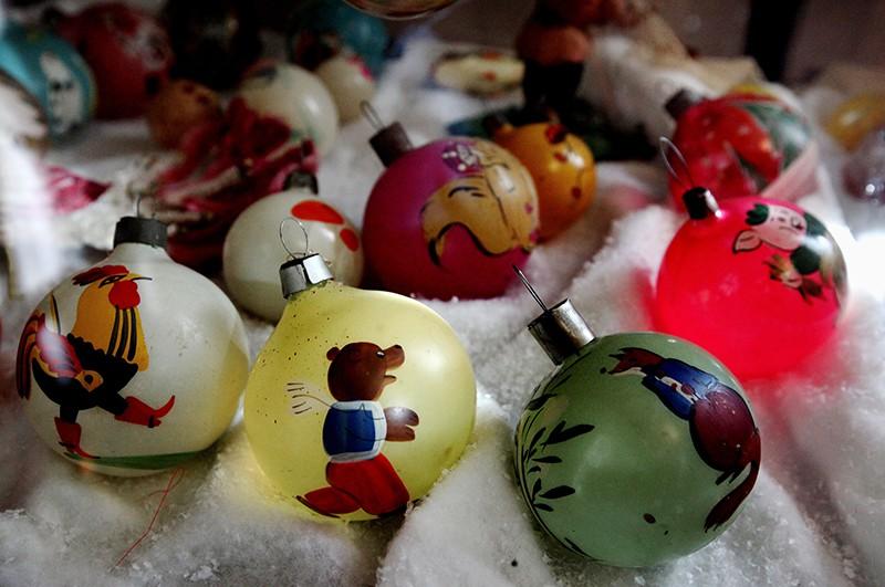Выставка советских елочных игрушек