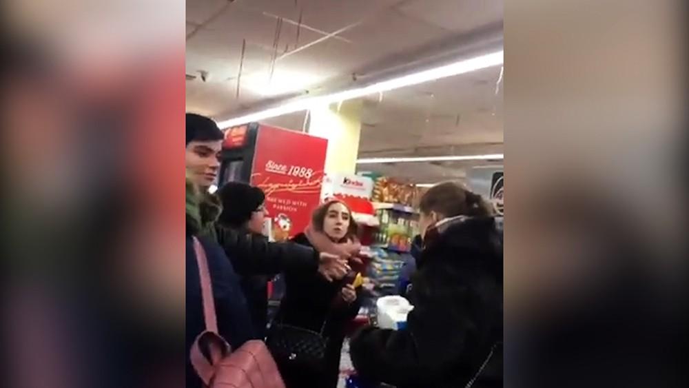 Потасовка в супермаркете Харькова