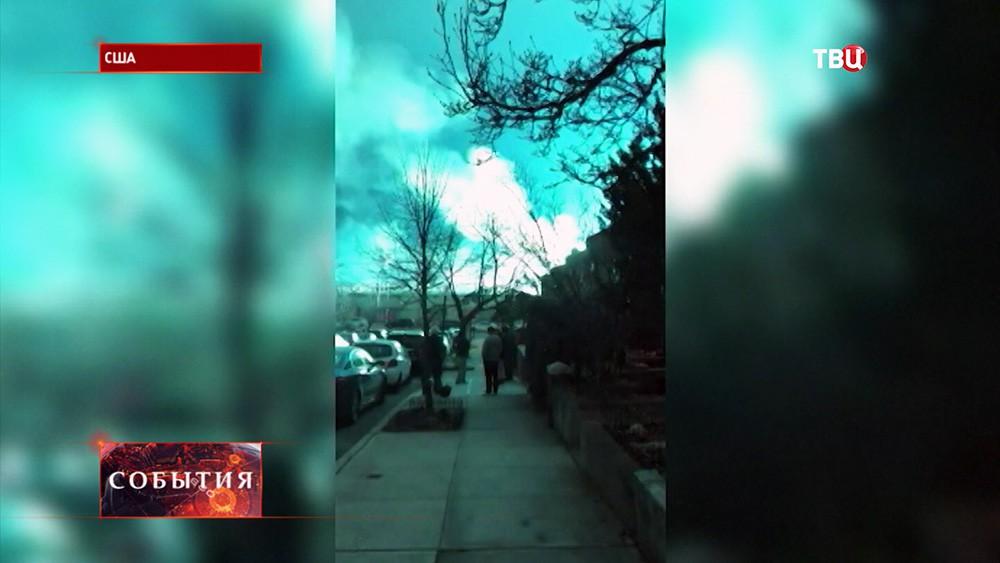Взрыв трансформатора на одном из заводов в Нью-Йорке