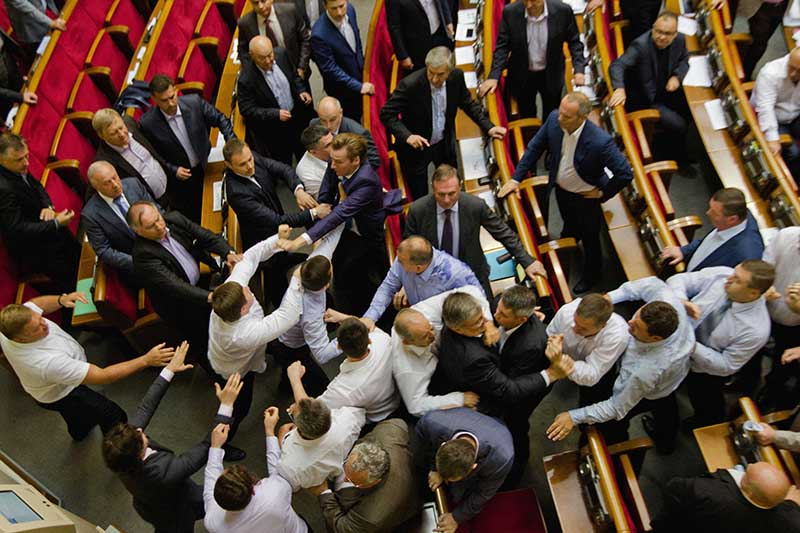 Драка депутатов в Верховной Раде Украины
