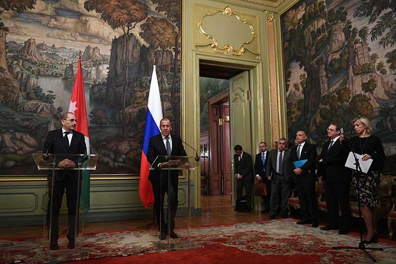Встреча глав МИД России и Иордании Сергея Лаврова и Абдаллы ас-Сафади
