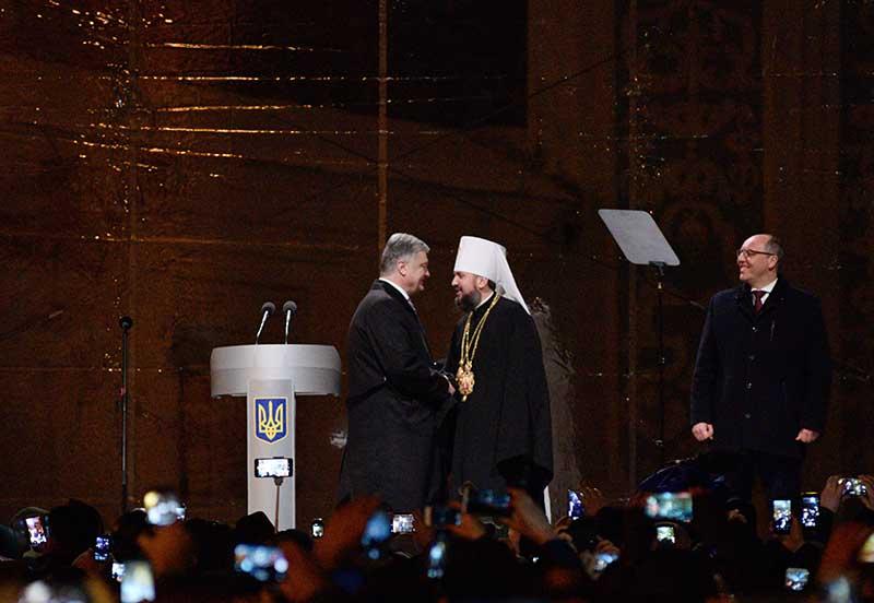 Петр Порошенко, епископ новой Украинской православной церкви Киевского патриархата (УПЦ КП) Епифаний