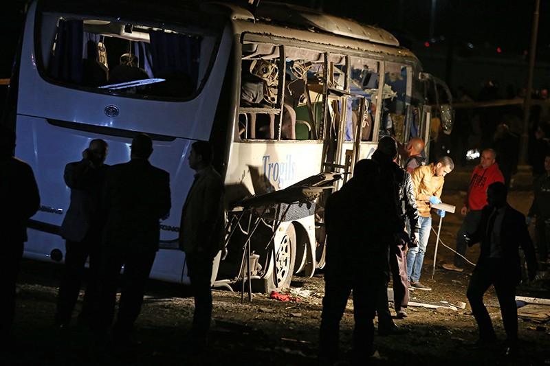 Спецслужбы Египта на месте теракта