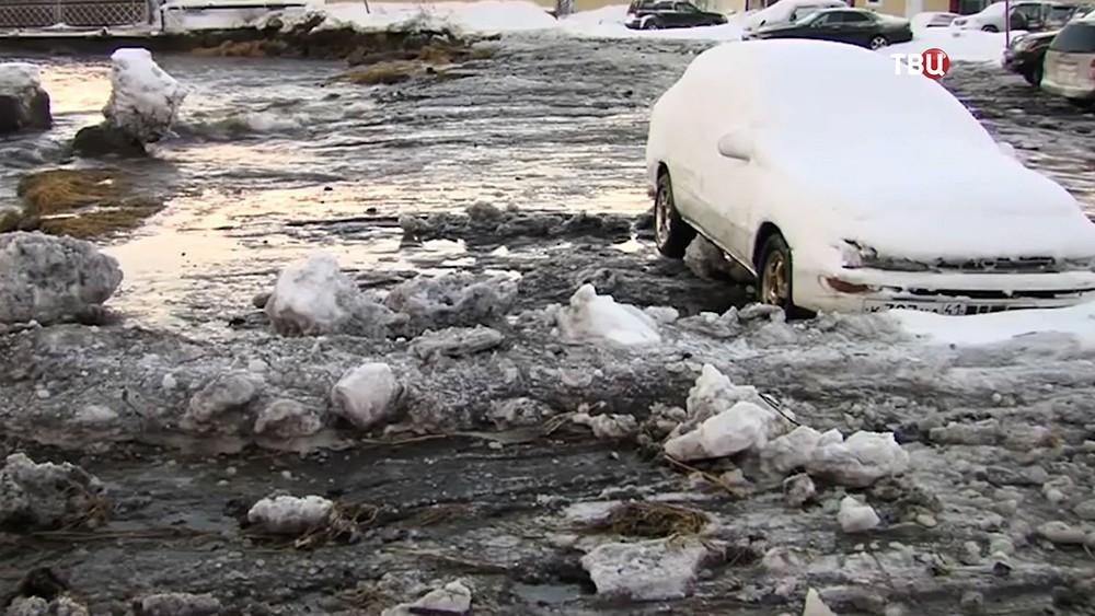 Ледяной шторм на Камчатке