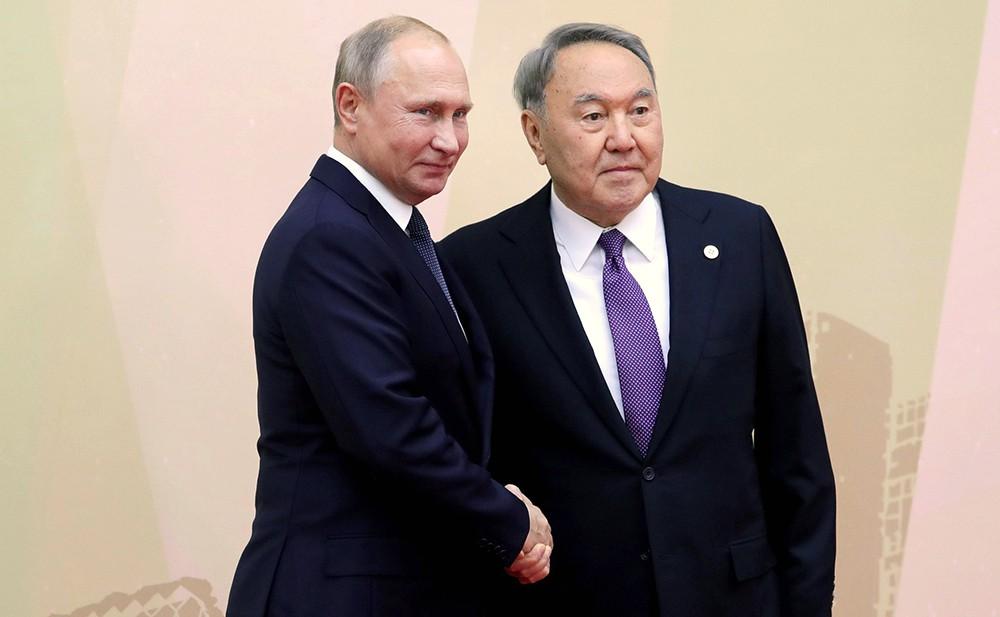 Владимир Путина и Нурсултан Назарбаев