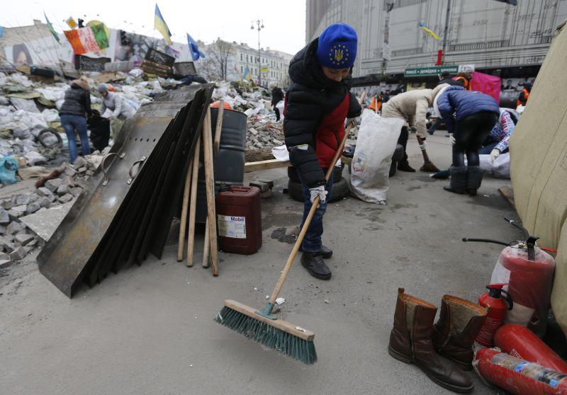 Субботник на Майдане