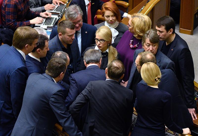 Юлия Тимошенко на заседании Верховной Рады Украины в Киеве
