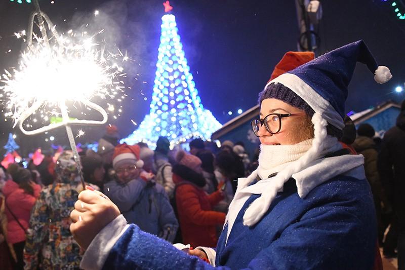 Празднование Нового года в Новосибирске