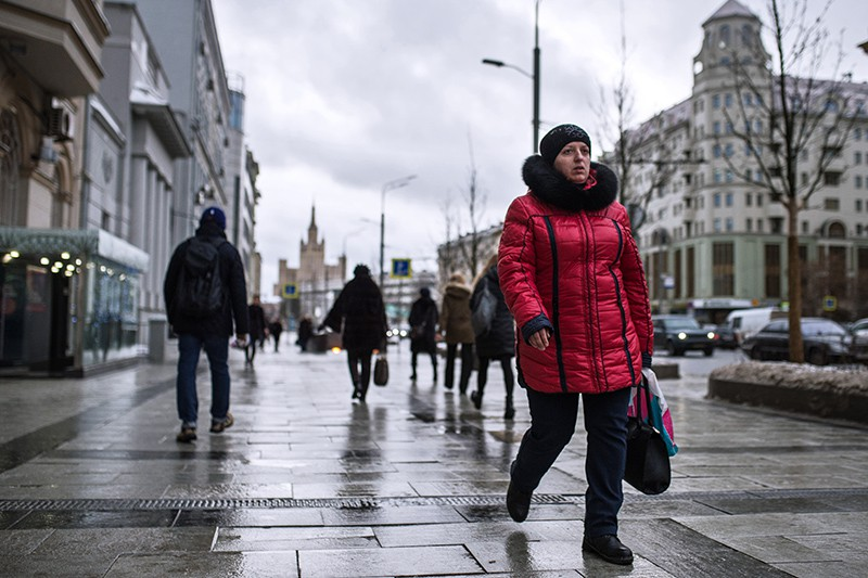 Прохожие на улице в Москве