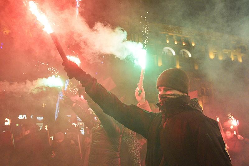 Марш националистов в день рождения Степана Бандеры