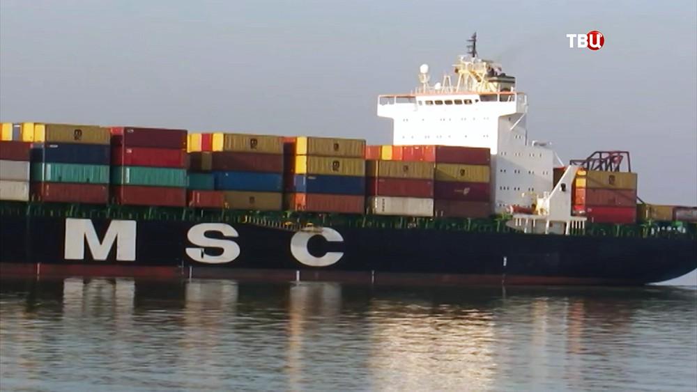 Грузовое судно MSC Mandy